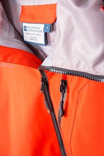 de Seguridad de Chaqueta Capa del Mens y la Capa Dobladillo Naranja Breathable Foso Bachill de Ajustable Bolsillos Warehouse del la Capilla Impermeable Mountain HZ1axa