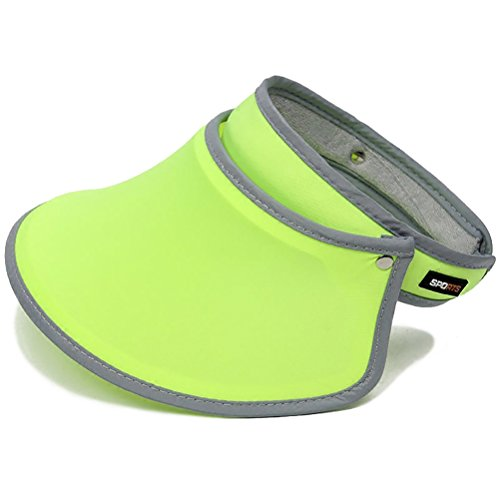 Women Sports Sun Visor Cap Sweat-absorbent Baseball Travel Alpine Hats (Yellow) -