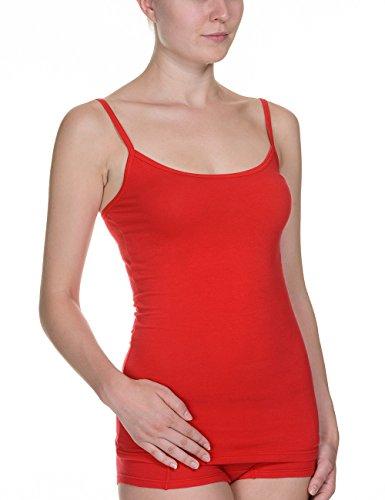 Bruno Banani - Camiseta sin mangas de sin mangas con cuello redondo para mujer Rojo 008