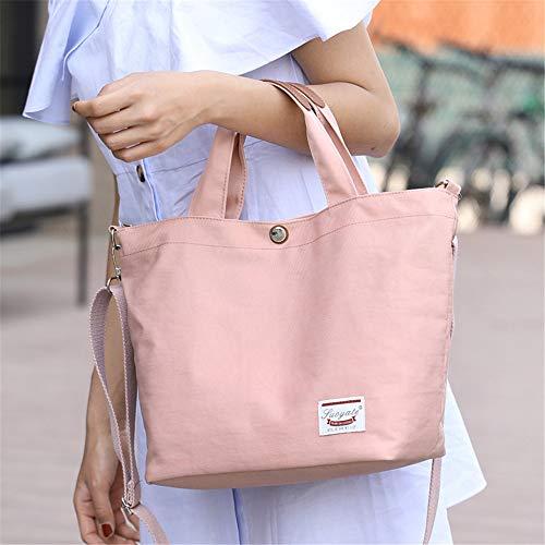 de mode bandoulière toile sauvage sac nylon coréenne Messenger mère à portable sac sacs sac main Le en rose nouveau en LANDONA clair à marée wq088I