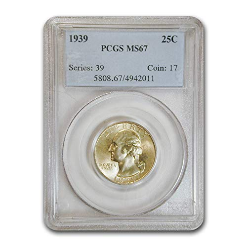 1939 Washington Quarter MS-67 PCGS Quarter MS-67 PCGS