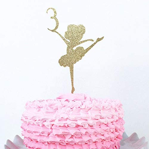Peachy Ballerina Cake Topper Custom Age Cake Topper Personalized Personalised Birthday Cards Paralily Jamesorg