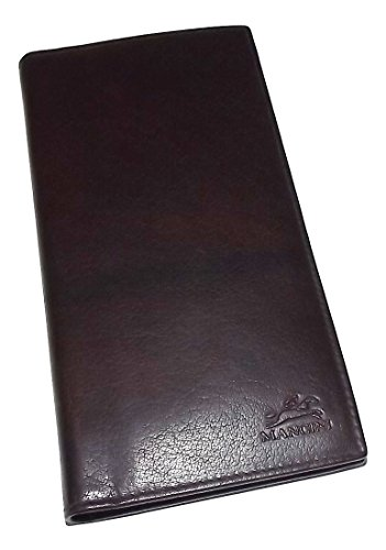 Mancini Leather Men's RFID Blocking Breast Pocket Secretary Wallet Dark - Secretary Breast Mens Wallet