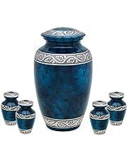 UrnsDirect2U Middleton Blue Adult Four Tokens Funeral urns
