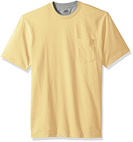 IZOD Men's Chatham Point Short Sleeve Solid Jersey T-Shirt with Pocket, Sundress, Small