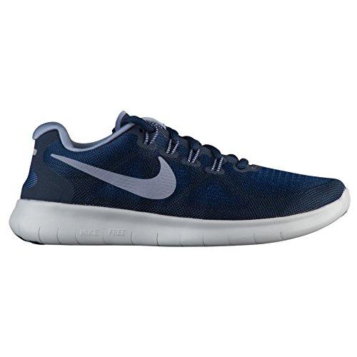 Nike Women's WMNS Free Rn Flyknit 2017 Trail Running Shoes Binary Blue/Obsidian/Gym Blue oVn5qmw7