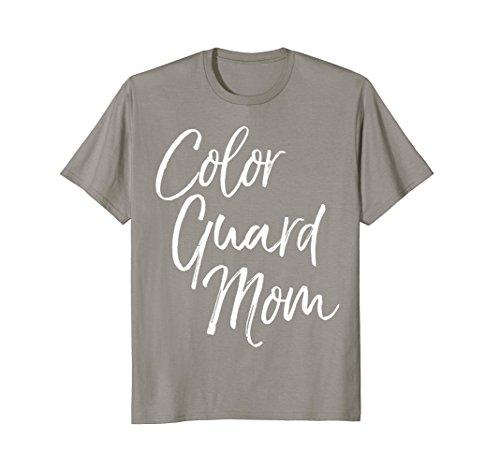Mens Color Guard Mom Shirt Fun Cute High School Mother Tee 3XL Slate