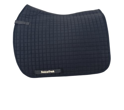 Back On Track Therapeutic Horse Dressage Saddle Pad, 22-Inch Spine by 21-Inch Drop, Black Black Dressage Saddle Pads