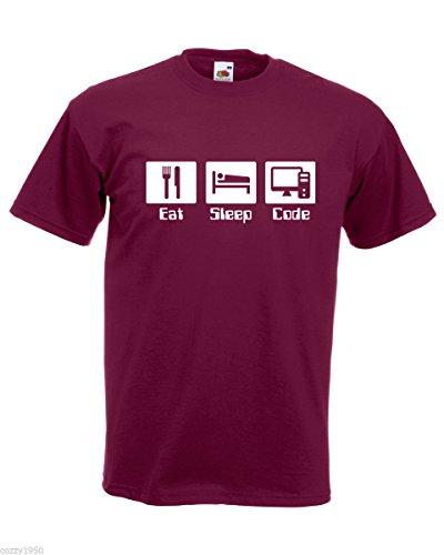 uomo Relative decorato Ispirazione T Shirt da citazione Designer Bordeaux Shirt modello Bees casuale con programmatore Keep Free Codice Motivational RRE1Tv