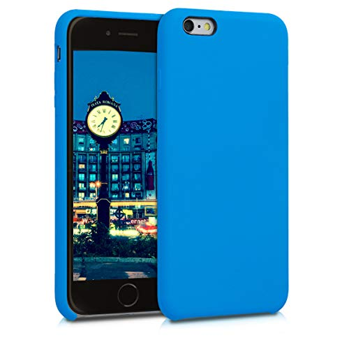 kwmobile TPU Silicone Case Compatible with Apple iPhone 6 Plus / 6S Plus - Soft Flexible Rubber Protective Cover - Blue Temptation