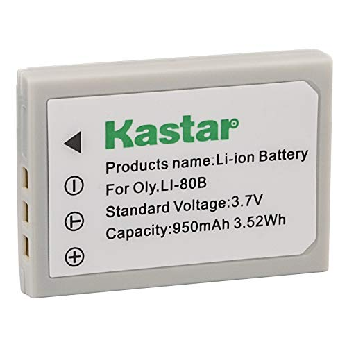 - Kastar Battery (1-Pack) for Olympus Li-80B and Konica Minolta NP-900 Work with Olympus T-100,t-110,x-36 and Konica Minolta DiMAGE E40, E50, KYOCERA EZ4033 etc. Cameras