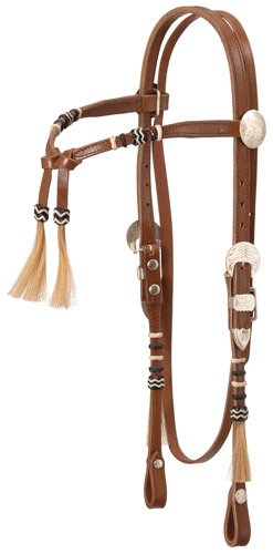 (Royal King Rolled Braided Tassel Knotted Headstall)