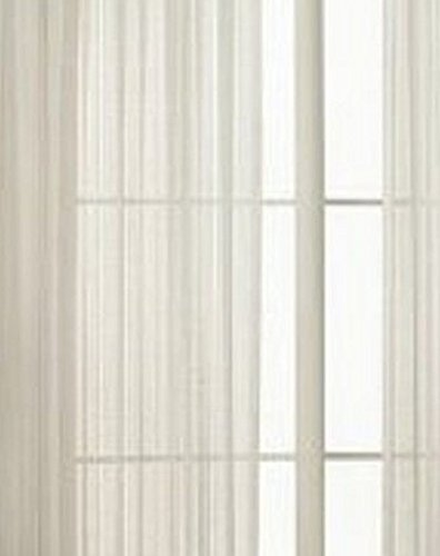 "Elegant Comfort 2-Piece Solid White Sheer Window Curtains/drape/panels/treatment size 60""x84"""
