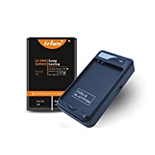 LG G4 Battery: Lrker LG G4 Battery Kit[1*Battery+1*Charger]1*Spare Li-ion Extended Battery BL-51YF Combo with USB Home Travel Wall Spare Battery Charger(1 Battery+1 Charger)