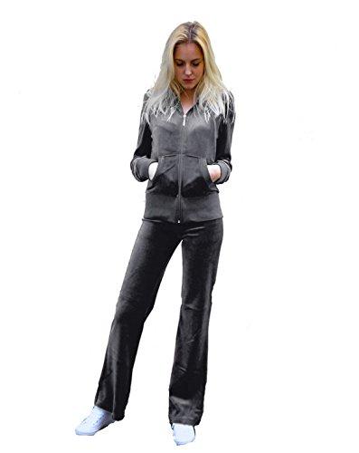 40 For Tuta 52 Love taglia marca poliestere pantaloni 20 e alla in my con Fashion cappuccio velluto da 80 donna jogging cotone Grey eccezionale da dalla rUUaf