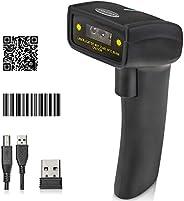 1D 2D escáner de código de barras inalámbrico – CCD de mano etiqueta de código de barras UPC QR lector de imág
