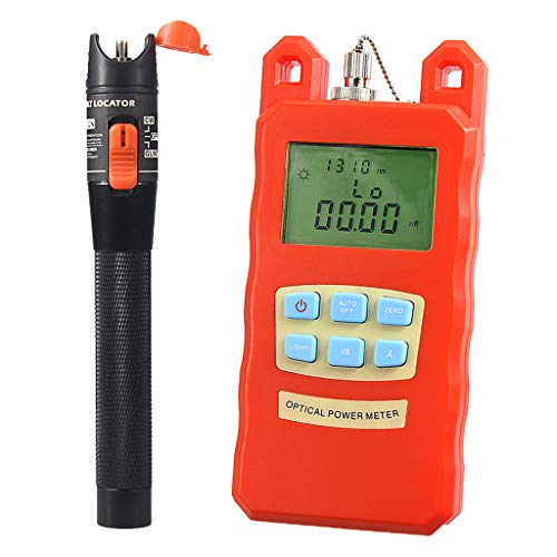 SM SunniMix Pack -70dBm~+10dBm 850~1625nm Optical Power Meter Tester FC SC Handheld Optical Power Meter + 10mW Visual Fault Locator Pen by SM SunniMix (Image #10)