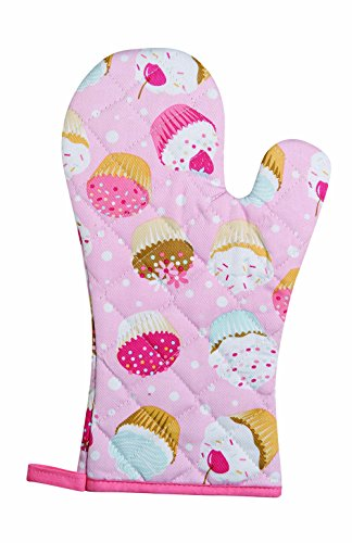 Kitchen Style by Now Designs Basic Mitts, Cupcakes, Set of 2