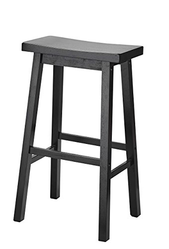 PJ Wood 29-Inch Saddle Seat Counter Stool - Black ()