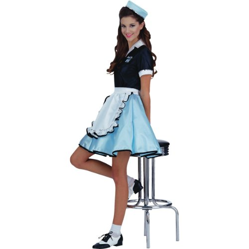 50s diner waitress fancy dress - 3