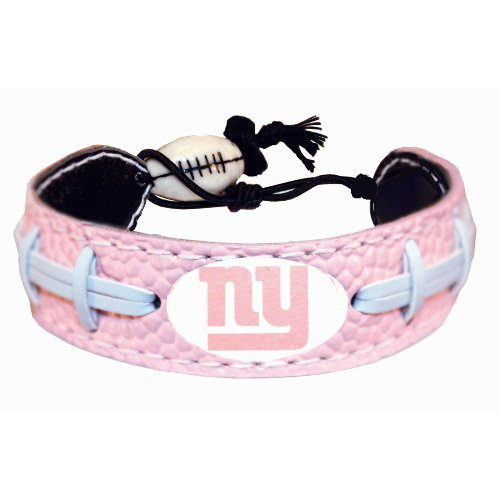 New York Giants Pink NFL Football Bracelet