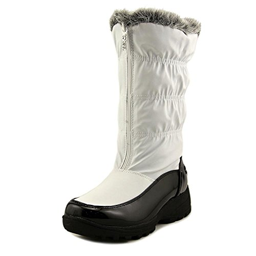 totes New Womens Rogan Rain Boots White Size 8.5 M Canvas Round Toe ()