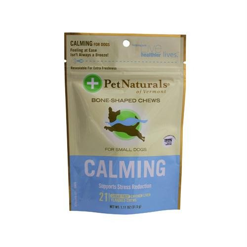 PET NATURALS OF VERMONT Calming For Small Dogs chicken liver flavor 21 CHEW