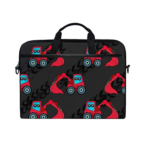 PENGTU 15-15.4 Inch Laptop Bag Cute Kids Car Tractor Pattern Girls Shoulder Messenger Bags Sleeve Case Tablet Briefcase with Handle Strap ()
