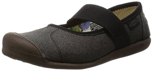 KEEN Women's Sienna MJ Canvas Mary Jane, New Black, 8.5 M US
