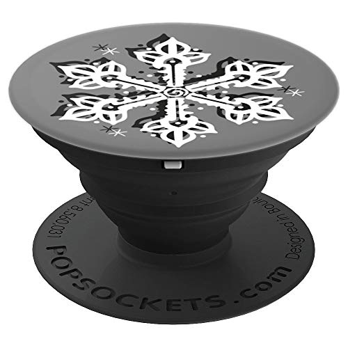 Snowflake Winter Sports Cold Ice Frozen Ski  Christmas Gift - PopSockets Grip and Stand for Phones and Tablets