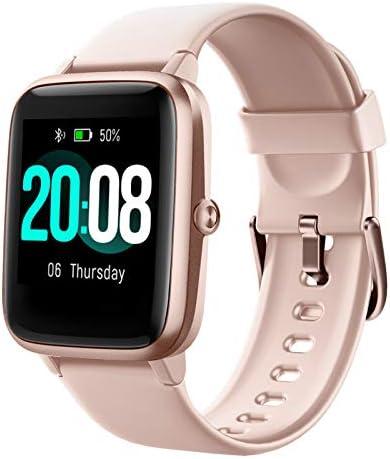 LIFEBEE Smartwatch, Reloj Inteligente Impermeable IP68 para Hombre Mujer niños, Pulsera de Actividad Inteligente con Monitor de Sueño Contador de Caloría Pulsómetros Podómetro para Android iOS: Amazon.es: Electrónica