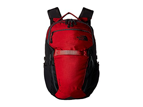 The North Face Unisex Surge Backpack Rage Red Ripstop/Tnf Black One Size ()