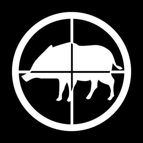 hog hunting window decals - 8