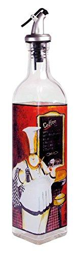 (Grant Howard French Chef Glass Oil and Vinegar Cruet, 16 oz, Multicolor)