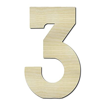 unfinished wooden letters 3 three 24 tall large wall wood letters