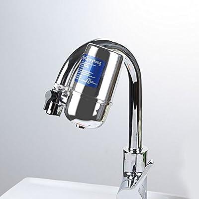 Filtro de agua para grifo, sistema de purificador de agua de grifo de larga duración para cocina, filtro de montaje de grifo con interruptor, compatible con grifos estándar: Amazon.es: Hogar