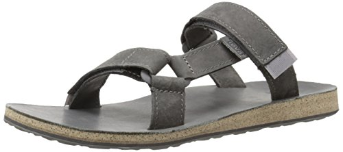 Teva Men's Original Universal Slide Leather Sports and Outdoor Lifestyle Sandal Grey qDx6OH