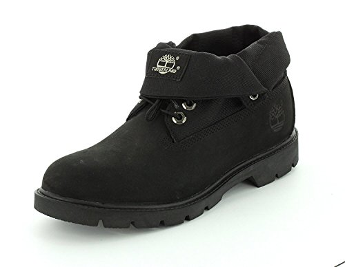 Timberland Mens Basic Single Roll Top Ankle Boot, Black, 49 D(M) EU/13.5 D(M) UK