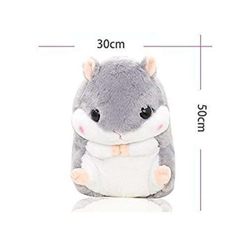 Crazy lin Baby Kids Animals Stuffed Doll Soft Plush 1 Hamster Throw Pillow With 1 Blanket (Hamster:15.811.8 inch, Grey) by Crazy lin (Image #4)