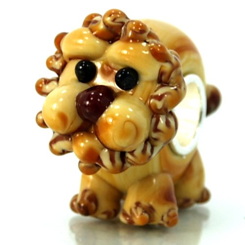 Dog Zable Bead - Pro Jewelry .925 Sterling Silver Glass