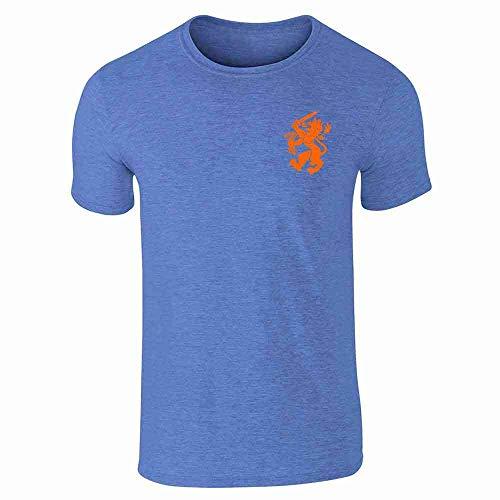 - Dutch Soccer Retro National Team Holland Heather Royal Blue L Short Sleeve T-Shirt