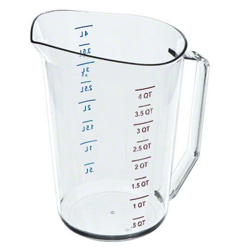 Cambro 400MCCW 4 Quart Measuring Pitcher