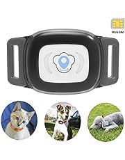 Mini gps hund cat tracker locator für £ haustiere wasserdicht ip67 echtzeit aktivitätsmonitor agps £ sms positionierung tracking gerät mit kragen enthalten sim karte (blau)
