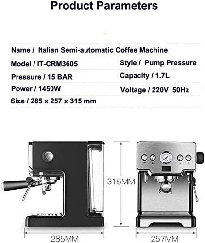 NO BRAND Máquina de café, Italiano Semi-automática Cafetera ...