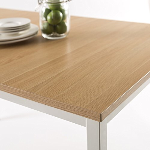 Zinus Dessa Modern Studio Collection Soho Dining Table / Office Desk / Computer Desk / Table Only, White by Zinus (Image #5)