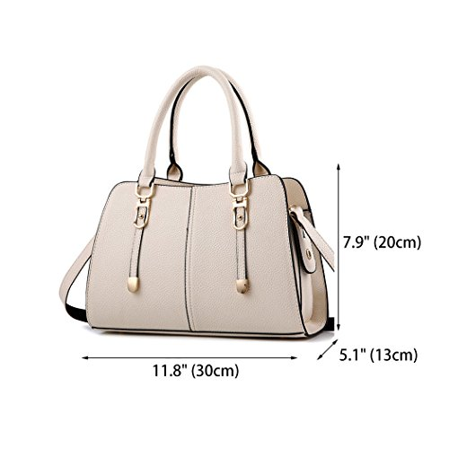Faux Top Women's Handle Body Cross Shoulder Leather Bags Off Bags white Handbags Bags Zz5ztnrW8a