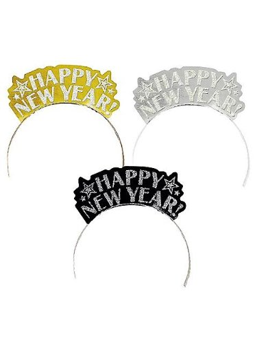 Happy New Year Glitter Assorted Tiaras