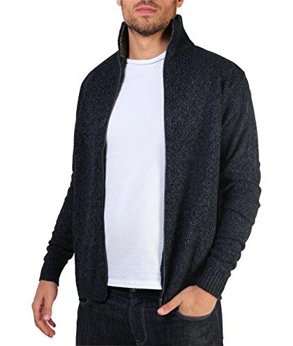 [해외]망 소프트 러닝 니트 지퍼 위로 깔때기 목 받침대 가디건 점퍼 스웨터 탑/Mens Soft Woolen Knit Zip Up Funnel Neck Grandad Cardigan Jumper Sweater Top