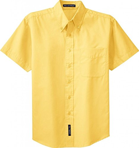 Port Authority Men's Short Sleeve Easy Care Shirt. XS Yellow -