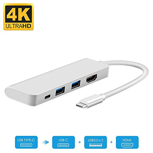 USB C to HDMI Adapter, iBosi Cheng Type C to HDMI Adapter (Thunderbolt 3 Compatible) HDMI 4K+2 USB 3.0 Ports+PD Charging Port for MacBook(2016/2017) Chromebook Pixel, Galaxy S8/S8+/S9/S9 Plus/Note 8